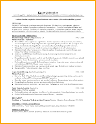 medical support assistant resume objective medical assistant