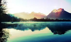 cool mountain backgrounds. Download Wallpaper 1024x600 Mountains, Lake, Haze, Morning, Cool . Mountain Backgrounds