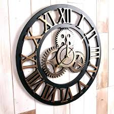 large rustic wall clock gear handmade oversized retro decorative luxury art big kitchen clocks uk huge round rustic wall clock