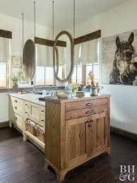 Wood tile flooring bathroom Bathroom Grey French Wood And Bathroom Laminate Flooring Rustic Bathroom With Hanging Mirrors Better Homes And Gardens Best Bathroom Flooring Options