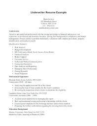 Warehouse Assistant Cover Letter Underwriter Cover Letter Sample