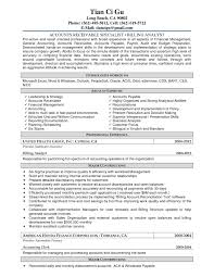 Resume Samples For Accounts Payable These Examples Cover