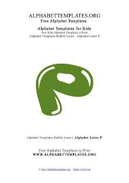 alphabettemplate letter p bubble