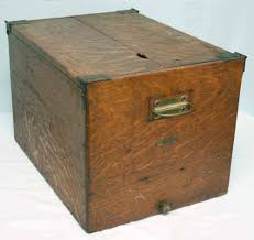 Large Wooden Boxes To Decorate Antique Oak Wood File Box Cabinet Geo G Fetter Louisville Holds 5