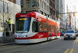 detroit s qline streetcar takes a test run downtown on woodward avenue photo by steve neavling