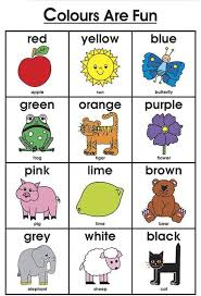 Poster Colors Name Chart Educational Poster Wall Chart