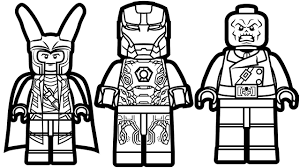 With Lego Marvel Coloring Pages Coloring Pages For Children