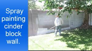 Paint Cinder Block Wall Spray Painting Cinder Block Walls Youtube