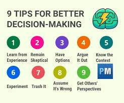9 Ways To Improve Your Decision Making
