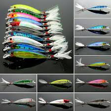 <b>1Pcs Fishing Tackle</b> Lure Crankbait Hooks Baits Feather Minnow ...