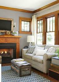 best paint for wood floorsGray walls with wooden trim What if the trim was darker wood