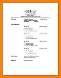 Example Basic Resume.basic Resume Templates Free Basic Resumes ...