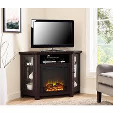 walker edison furniture company espresso fire place entertainment center hd48fpcres the home depot