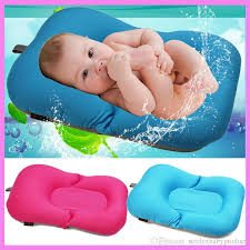 2019 newborn baby bathtub pillow pad lounger air cushion floating soft seat bath safety seat baby stroller cushion 0 10 month from strolexbaby