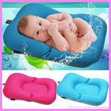 newborn baby bathtub pillow pad lounger air cushion floating soft seat bath safety seat baby stroller cushion 0 10 month newborn baby bathtub pillow pad