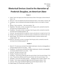 rhetorical devices used in the narrative of frederick douglass rhetorical devices used in the narrative of frederick douglass slavery