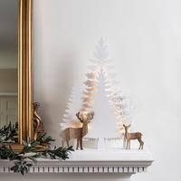 Studley Rentier Winterwald Fensterdeko Weihnachten