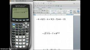 simplifying expressions using your calculator partii you