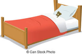 bed clipart. Brilliant Bed Cartoon Bed With Teddy Bear  Illustration Of A Cartoon Throughout Clipart L