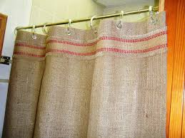 country shower curtains burlap