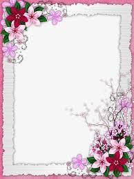 frame design flower. floral border design, graphic flowers, frame png image and clipart design flower