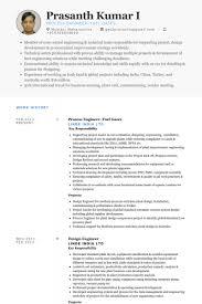 Process Engineer Resume Process Engineer Resume Samples Visualcv