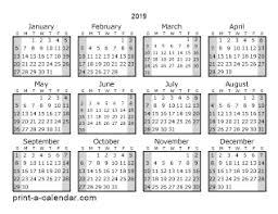 print a calendar 2019 download 2019 printable calendars