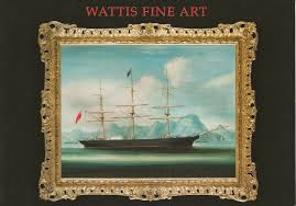 Paintings On Nautical Charts Auction Catalogue Seller Wattis China Trade Paintings