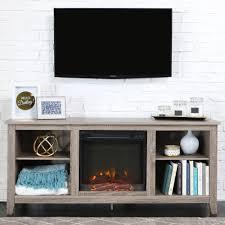 electric fireplace tv console com