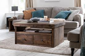 rustic chunky wooden coffee tables
