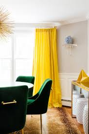 Yellow And Green Living Room Designs Dining Room Green Dining Chairs Yellow Curtains