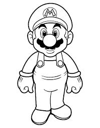 Mario Coloring Page ぬりえ マリオマリオ ぬりえ描き方