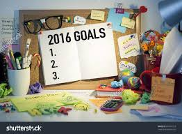 2016 goals plans aspirations resolutions concept stock photo 2016 goals plans aspirations and resolutions concept list on cork bulletin board in office