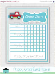 25 Off Sale Red Truck Chore Chart For Kids By