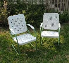 vintage iron patio furniture. 12 Inspiration Gallery From Paint Vintage Metal Lawn Chairs Ideas Iron Patio Furniture A