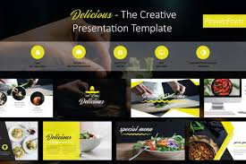 Food Presentation Template Delicious Food Powerpoint Template