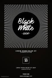 Flyer Black And White Black And White Event Flyer Template Postermywall