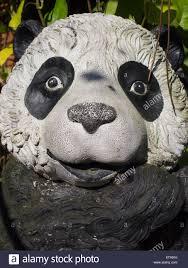 panda garden statue stock image