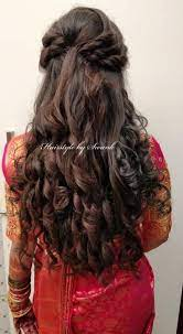 Once you achieve the hair of your dreams, select your favorite to don on the big day. Bridal Hairstyles For Saree Style 47 Ideas Hairstyles Wedding Hairstyles For Long Hair Bridal Hairdo Reception Hairstyles