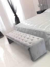 grey tufted bench. Simple Grey With Grey Tufted Bench H