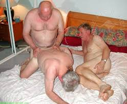 Old man and old gay fucking