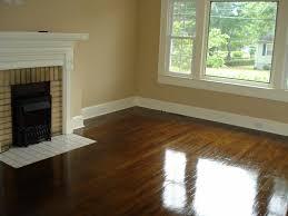 best paint for wood floorsPainted Hardwood Floor with Wood Trim  DIY Flooring  Pinterest