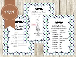 Mustache Baby Shower Games  Baby Shower Mad Libs In Mustache Free Printable Mustache Baby Shower Games
