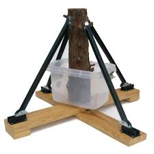 standtastic heavy duty plastic adjule tree stand for trees up to 16 ft tall