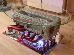 v6 engine block coffee table for living room decorating ideas