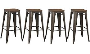 rustic bar stools. Perfect Rustic BTEXPERT 30u0026quot Inch Bar Stool Modern Solid Steel Stacking Industrial  Rustic Metal With Wood To Stools O