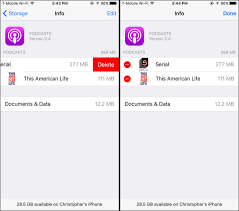There are actually two slightly different ways to delete an app on the home screen on an. How To Free Up Space Used By The Podcasts App On Your Iphone Or Ipad