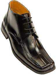 zota mens black leather lace up square toe ankle dress boot