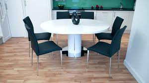 design round white dining table uk large gloss with black chairs