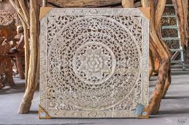 large bali or thai carved wood wall art